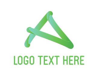 Auckland - Handwritten A logo design