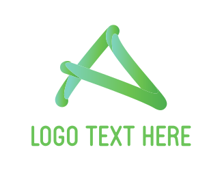 Gradient - Handwritten A logo design