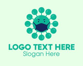 Angry Virus Mask Logo Maker