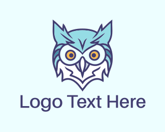 Blue And Brown - Blue Owl  logo design