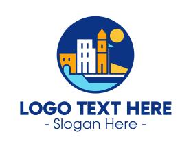 Town - European Town logo design