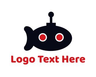 Submarine - Submarine Robot logo design