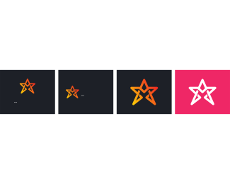 Producer - Pink & White Star logo design