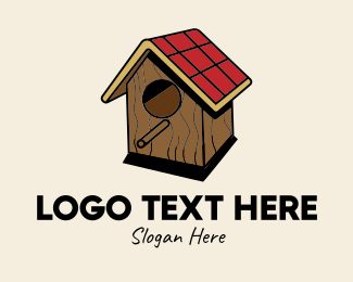 Pet Accessory - Isometric Bird House  logo design