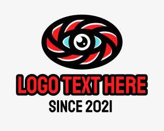 Illuminati - Oval Eye Lens logo design