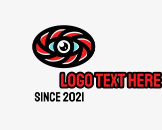 Oval - Oval Eye Lens logo design