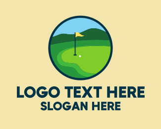 Golf Ball - Golf Course Green logo design