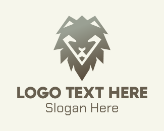Jungle Animal - Wild Lion Mane logo design