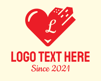 New York City - City Heart Love Letter logo design