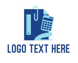 Math - Stationery Supplies logo design