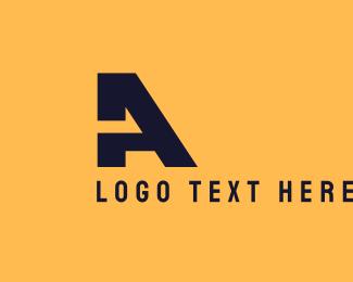 Initial - Black Letter A logo design
