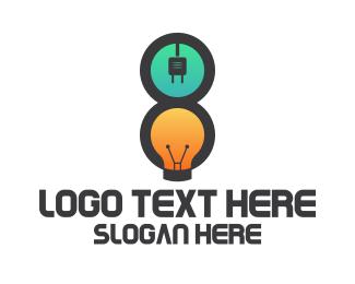 Electrical - Electrical Number 8 logo design
