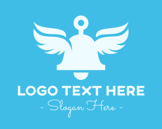 Angelic - Angelic Bell Wings logo design