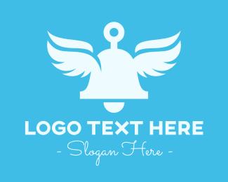 Angel - Angelic Bell Wings logo design