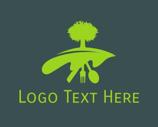 Knife - Organic Kitchen logo design