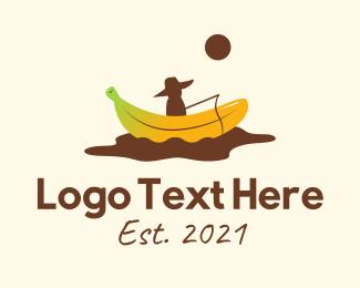Banana Split - Banana Split Fisherman logo design
