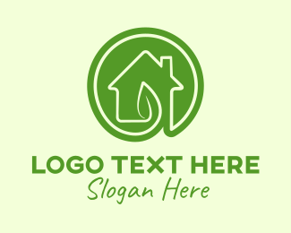 Tea House - Green Leaf House logo design