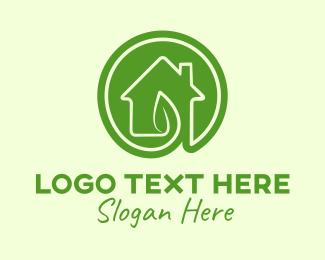 Chimney - Green Leaf House logo design