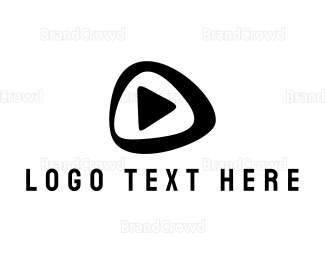 Video Player - Black Play Button logo design