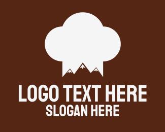 Brown Mountain - Mountain Chef logo design