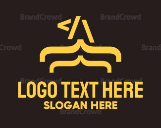 Code - Eagle Code logo design