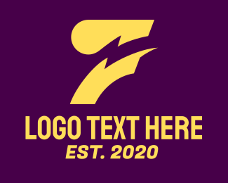 Abstract Design - Abstract Yellow Lightning logo design