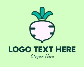 Root Crop - Organic Turnip logo design