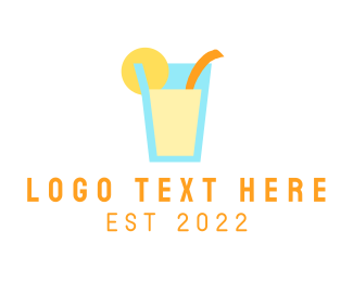 Summer Holiday - Drink Beverage Letter logo design