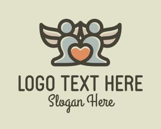 Angel - Angels Heart logo design