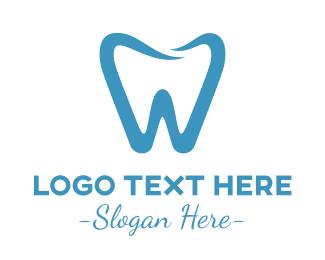 Dental Implant - Minimalist Blue Tooth logo design