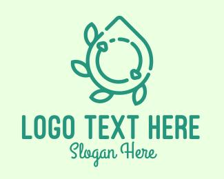 Lotion - Green Organic Liquid Soap Cycle logo design