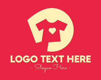 Tshirt - Heart Shirt Printing Company logo design