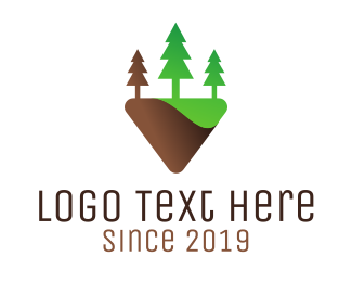 Hiking - Tree Park logo design