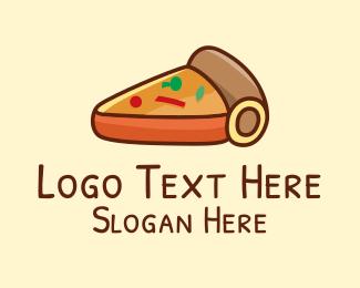 Dough - Pizza Pie Slice  logo design