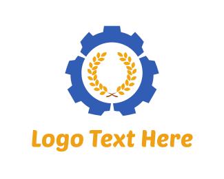 Hi-tech - Wheat Gear logo design