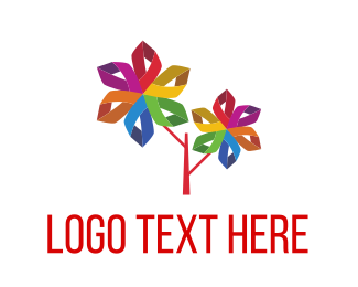 Kindergarten - Tree Origami logo design