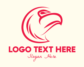 College Team - Red Eagle logo design
