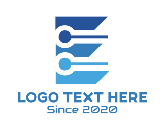 Web Development - Blue E Tech logo design