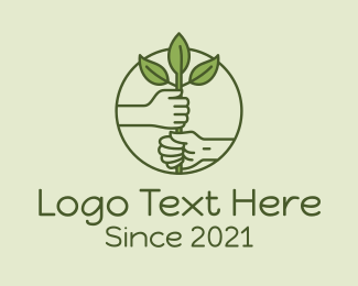 Hands - Planting Farmer Hands  logo design