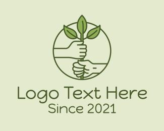 Plant - Planting Farmer Hands logo design