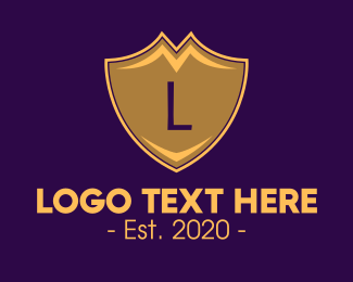 Heraldry - Royal Shield Lettermark logo design
