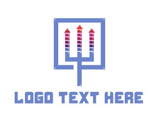 Productions - Sound Trident logo design