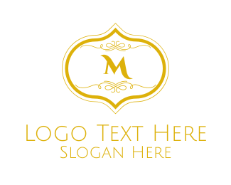 Gold Detailed Lettermark Logo