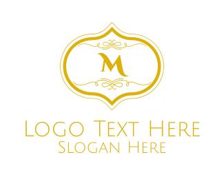 Gold Square - Gold Detailed Lettermark logo design