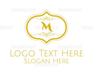 Condominium - Gold Detailed Lettermark logo design