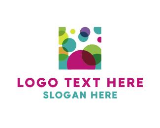 Painting - Square & Circles logo design