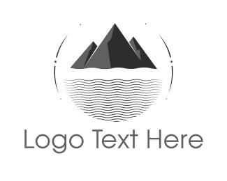 Glacier - Black Mountain & Sea logo design
