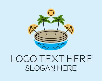 Vacation - Beach Resort Island  logo design