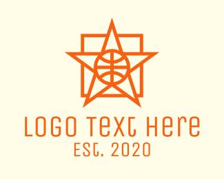 Mvp - Orange Basketball Star logo design