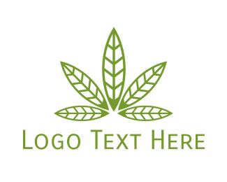 Herb - Cannabis Leaf Pattern logo design